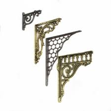 brass decorative shelf brackets