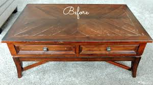 DIY Coffee Table Makeover Before