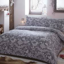grey spirit festive duvet cover set
