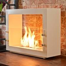 Super cool, a portable fireplace for indoors or outdoors...a little on