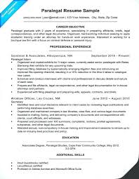 Paralegal Resume Templates Sample Legal Assistant Resume Personal ...