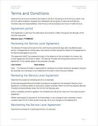 help desk service level agreement template service level agreement template apple iwork pages numbers