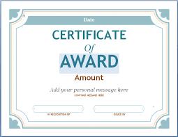 Sample Awards Certificate Award Certificate Sample Magdalene Project Org
