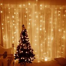 lighting strings. Photo 3 Of 10 Window Curtain Icicle Lights 306 Led 9.8ft Light String Fairy Indoor Outdoor Christmas Decorations Lighting Strings G