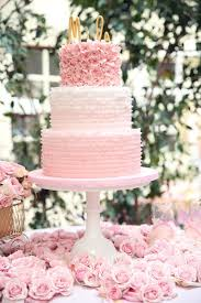 picture of romantic light pink wedding cakes