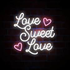 love sweet love lettrage en néon pour