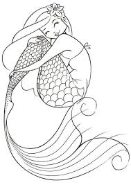 Kawaii Mermaid Coloring Pages Free Printable Collection Fun For Kids