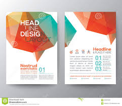 Poster Layout Ideas Abstract Brain Shape Low Polygon Graphic Design Layout Stock Vector