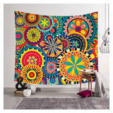 colorful fl print wall tapestry home decor