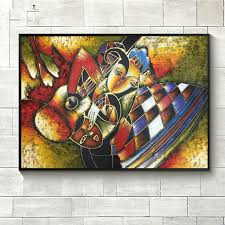 world famous paintings picasso abstract painting woman playing the guitar hand painted oil painting on canvas on famous paintings wall art with world famous paintings picasso abstract painting woman playing the