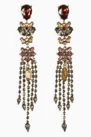 gold tone coloured stone chandelier earrings