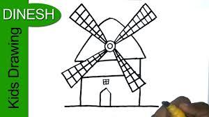 farm windmill drawing. 1280x720 How To Draw Windmill Drawing For Kids Farm H