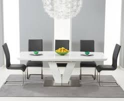 mark harris malibu grey faux leather dining chair pair