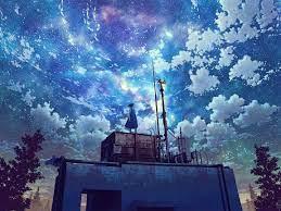 1152x864 Watching The Galaxy Anime Girl ...