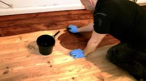 how to stain a wooden floor pro method for diy