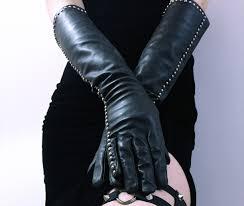 lennox leather studded gloves