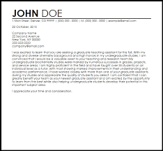 Graduate Cover Letter Examples Cover Letter Sample For Graduate Graduate Assistantship Cover Letter