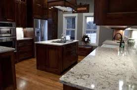 white quartz countertops with cherry cabinets deductour com kitchen natural wood medium