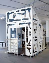 Flatpack furniture assembled built Meme Room Within Room Made Of Cnccut Plywood Has Components Of Modular Flatpack Furniture Built Right Into Its Walls Ready To Remove And Assemble Wardrobe Ideas House Of Furniture Parts By Studio Makkink Bey Room Within