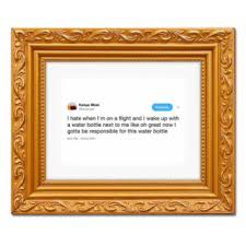 framed tweets funny gift idea