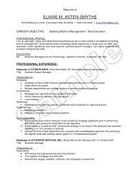 Assistant Manager Resume Format The Most Brilliant Bank Objective