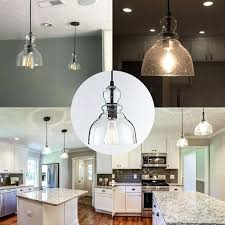 farmhouse mini pendant lights industrial mini pendant lighting with clear seeded glass shade adjule farmhouse kitchen farmhouse mini pendant lights