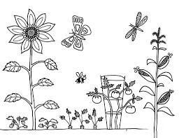 Tổng hợp các bức tranh tô màu phong cảnh mùa xuân đẹp nhất cho bé   Garden  coloring pages, Coloring pages, Coloring pictures