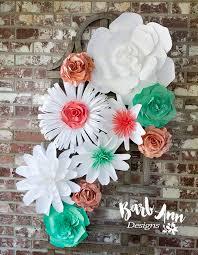Paper Flower Designs Sea Foam Green Coral Paper Flower Set Copy