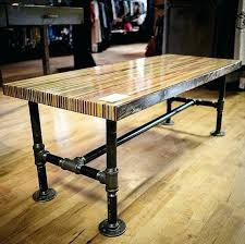 butchers block table butcher block slab table this coffee table contains sections of over skateboards diy