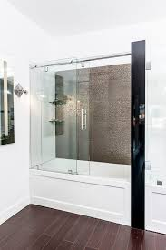 best frameless tub shower with glass doors having grey ceramic wall as within glass door for bathtub remodel dfwago com