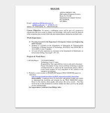 Engineering Resume Template Impressive Fresher Resume Template 48 Free Samples Examples Word PDF