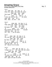 Amazing Grace Songselect Chord Chart In E 1 By Eric Issuu