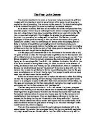 critical review of the flea john donne gcse english marked by  page 1 zoom in