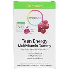 Where To Buy Rainbow Light Vitamins Rainbow Light Teen Energy Multivitamin Gummy Grape Flavor 30 Packets 4 Gummies Each