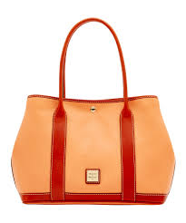 all gone apricot layla pebble leather tote