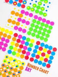 Make Fun And Colorful Number Chart Sticker Math Art Pink