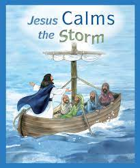Jesus falls asleep during a huge storm, while his disciples fear for their. Jesus Calms The Storm Big Book