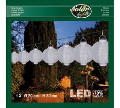 Solar Lampion Wit 20 Cm Led Warm Wit Annas Collection