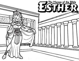 Small Picture Queen Esther The Bible Heroes Coloring Page NetArt Sunday