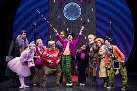 "review some sugar but not enough spice in this chocolate factory  christian borle center as willy wonka in the musical ""charlie and the chocolate factory"" at the lunt fontanne theater credit sara krulwich the new york"