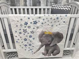 baby toddler blanket elephant chevron