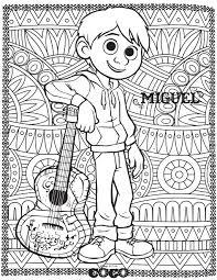 Disney Coco Miguel Retour En Enfance Coloriages Difficiles