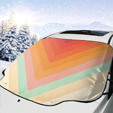 Windshield Sun Shades With Designs Amazon Com Polue Design Magic Chevrons Car Windshield Sun
