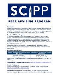 gspp s scipp peer advising program admissions blog master of g