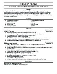 Nanny Resume Examples Basic Nanny Resume Example Nanny Caregiver ...