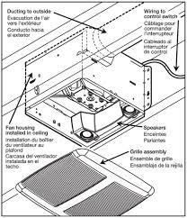 sensonic broan speaker fan installation image