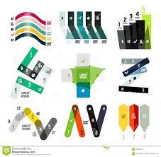Stripe Templates Set Of Line Or Stripe Shaped Option Infographic Design Templates