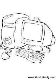 Coloring Page Computer Printable Coloring Page Computer Coloring