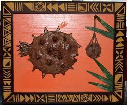 on tiki wall art nz with ebay puffer fish tiki wall art tiki central