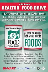 Food Drive Posters 10th Annual Realtor Food Drive Food For Lane County